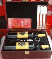 Hộp rượu quà tết 2 chai rượu vang Ý 16 độ + 3 đếu Xigar + Bao lì xì