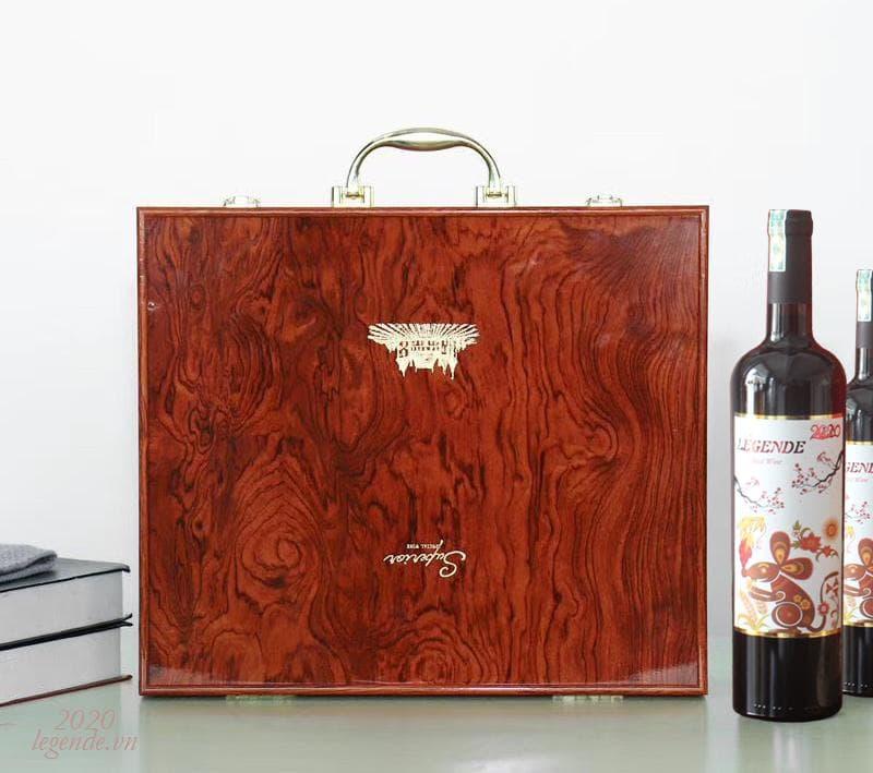 Hộp Quà tết 2 chai rượu vang Pháp + 3 đếu Cigar + Bao lì xì5