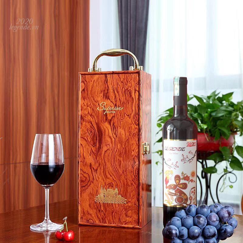 Hộp Quà tết 2 chai rượu vang Chuột Vàng + 3 đếu Cigar + Bao lì xì1