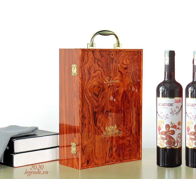 Hộp Quà tết 2 chai rượu vang Pháp + 3 đếu Cigar + Bao lì xì4